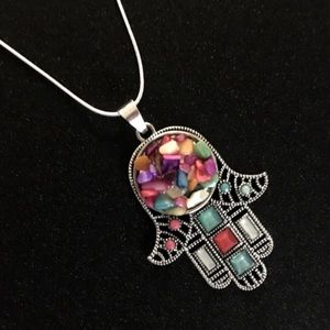 Jewelry - Brand new Hamsa necklace sterling silver chain